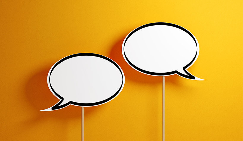 Image of two conversation bubbles