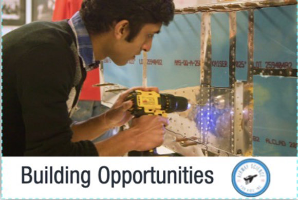 Building Opportunities - Photo of a man with a drill