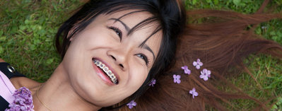Photo of a woman smiling
