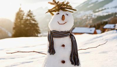 A snowman