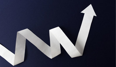 Image of an arrow moving up